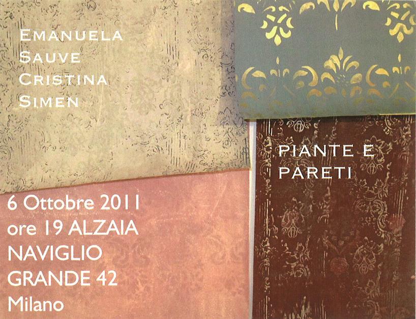 Piante e Pareti -2011