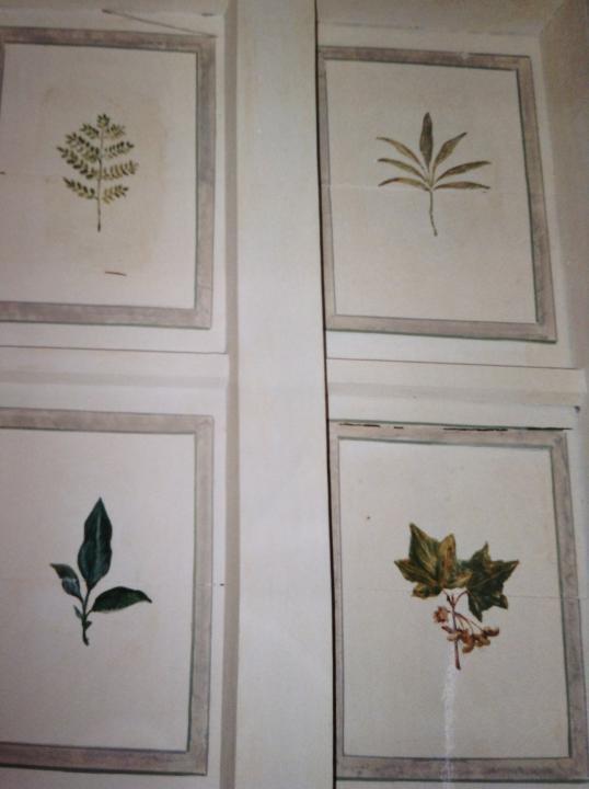 Soffitto a cassettoni in una villa in Lombardia
