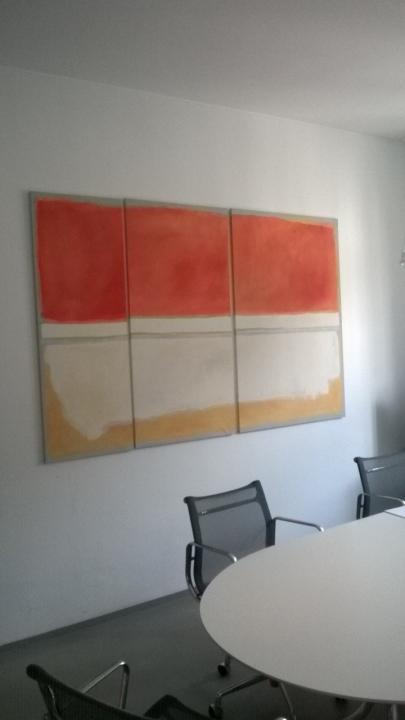Riproduzione Rotchko per sala riunioni ufficio a Milano