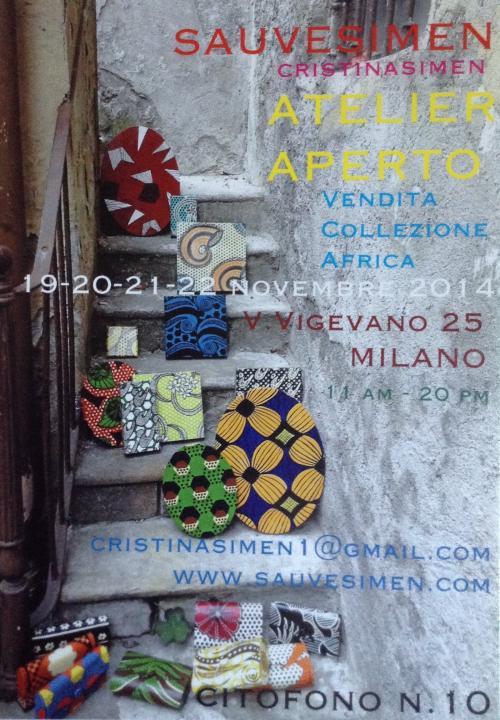ATELIER APERTO-COLLEZIONE AFRICA-STUDIO SAUVESIMEN MILANO-NOVEMBRE 2014