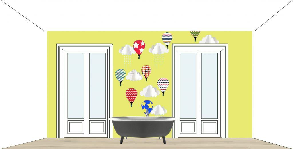 Progetto per una camera di bambini-Rendering al computer Arch.Luigi Pezone