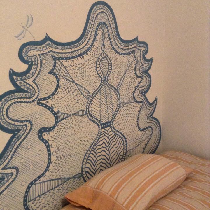Testata parete per una camera di una bambina