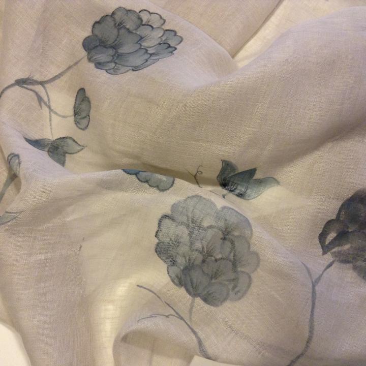 Garza di lino con decori fatti a mano per tovaglie