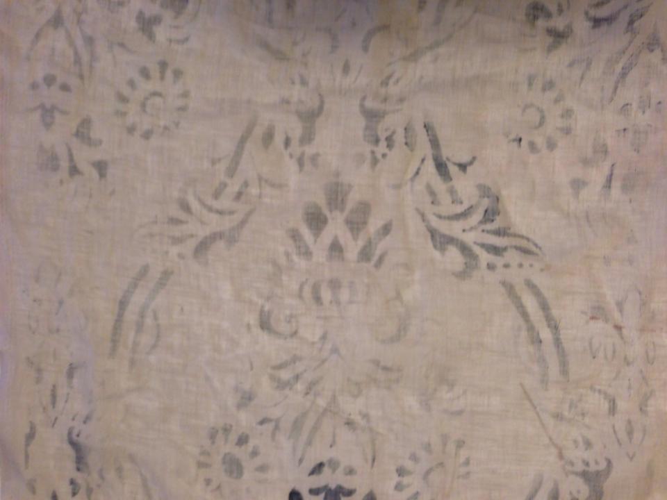 Garza di lino con decori fatti a mano per tovaglie,tende