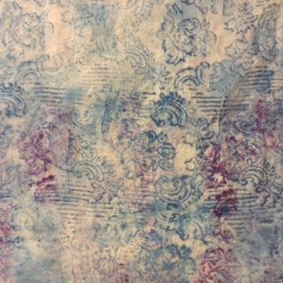 Garza di lino con decori fatti a mano
