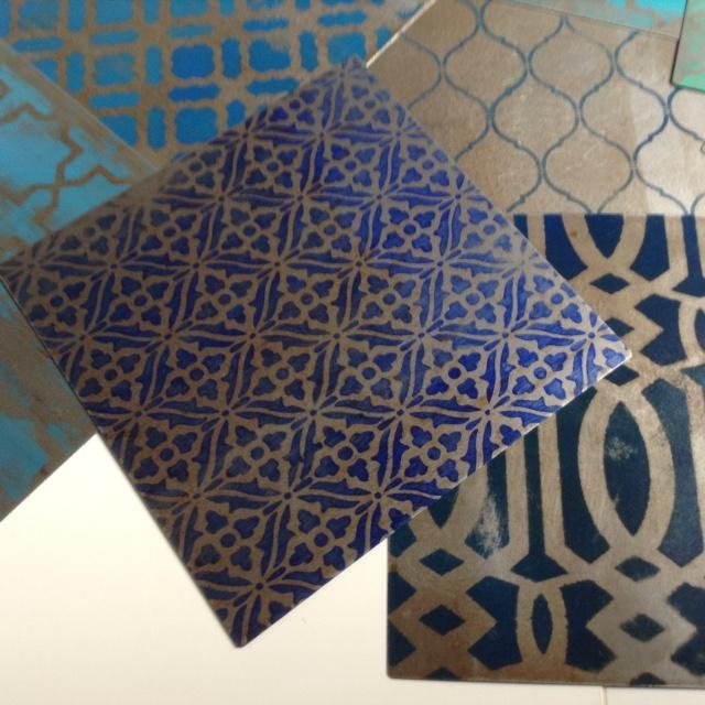 Sottopiatti in ferro decorati - Serie Marocco -BLU