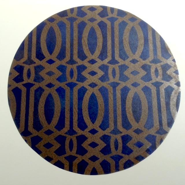 CENTROTAVOLA diametro 45 cm FERRO DECORATO-SERIE MAROCCO-BLU