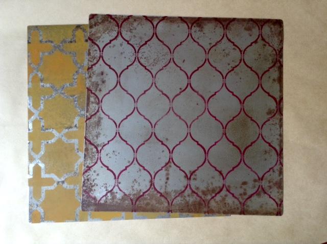 Sottopiatti in ferro decorati -Serie Marocco