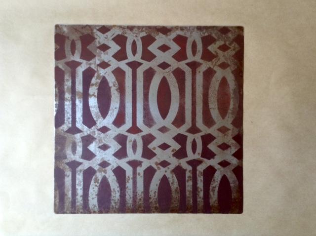 Sottopiatti in ferro decorati -Serie Marocco-ROSSO