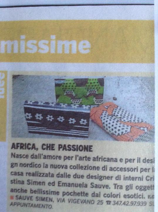 VIVIMILANO -Corriere della Sera -Collezione AFRICA